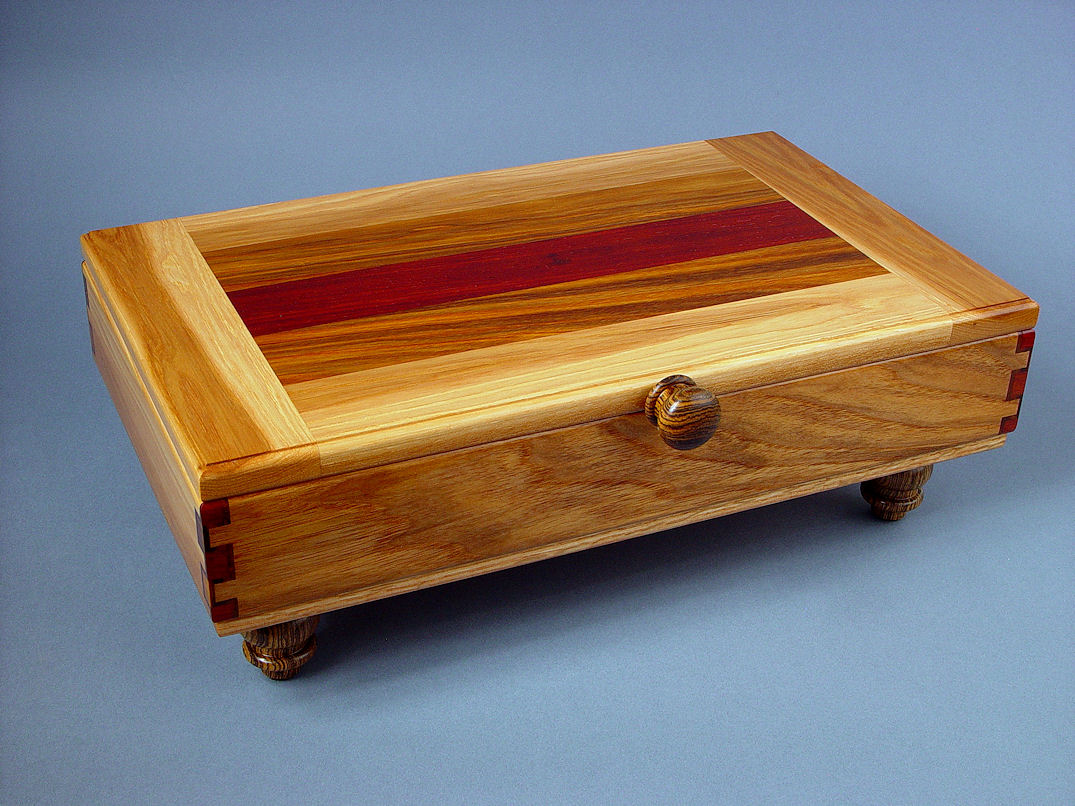 Case for Chef's Set, in Pecan, Arririba, Padauk, Bocote hardwood