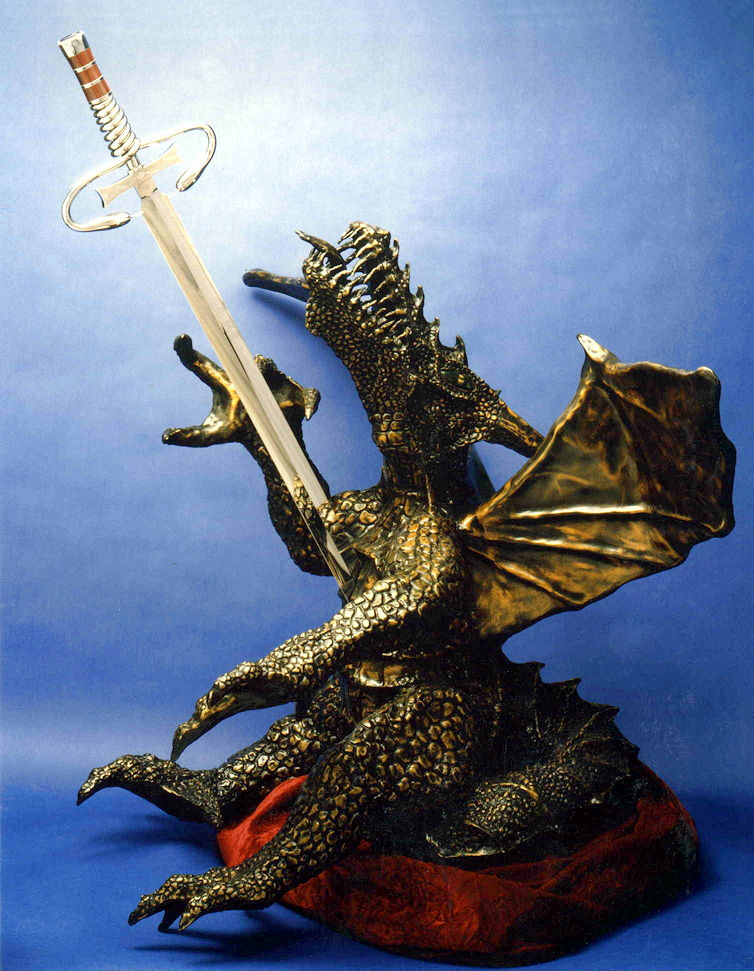 Dragonslayer- The Taste of Steel: Sword Sculpture by Jay Fisher