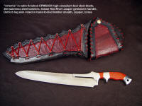 "Fine hunting butcher's knife for dressing, barbequeing large game animals: ""Artemis"""