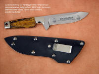 USAF Pararescue commemorative etching on custom knife blade