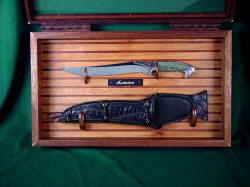 """Astarion"" case open. Complimentary case adds much to the knife display"