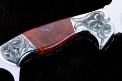 """Bulldog"" 3.3X enlargement of reverse side handle detail and bolster engraving"