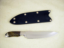 """Cyele"" reverse side view. Beautiful chef's knife with clean lines"