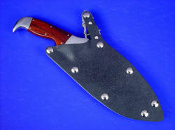 """Hooded Warrior"" sheathed view, locking waterproof combat grade knife sheath"