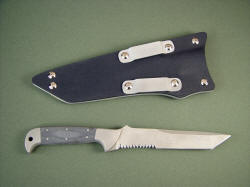 """PJLT"" Combat Search and Rescue Collaborative tactical knife, reverse side view"