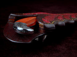 """Mercator"" sheath mouth view. The sheath welts are thick and strong; this is a very durable and well-made sheath."