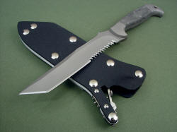 """PJLT"" blade point view. Tanto blade style is strong and useful, razor sharp"