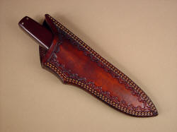 """Paraeagle"" sheathed view. Sheath is deep yet allows simple extraction of knife."