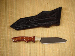 """Quark"" reverse side view. Handle is tough, fundamental, durable and long lasting, sheath is equipped with standard 1.75"" belt loop"