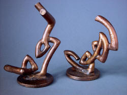 """Tharsis Intense"" bronze lost wax cast forms for knife and sheath are individual works of sculpture"