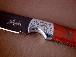 """Wasat"" front bolster engraving detail. Fine engraving is a 5 power magnification in this photo."