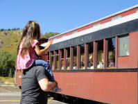 Kairi and Rusty at the Cumbres and Toltec Train