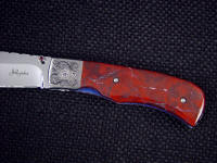 New Mexico jasper is hard and tough enough to support machine screw mounting on folding knives