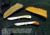 A pair of nice medium sized knives suitable for hunting and utility work.
