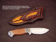 "The ""Chama"" knife works well in the palm of the hand, to work inside the animal for skinning and dressing."