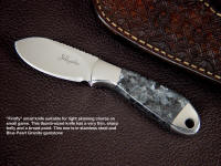The Firefly is a small, but thin and accurate blade form workable for skinning small game.