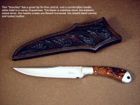 "A beautiful ""Sanchez"" boning knife with an Ironwood handle"