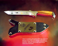 PJLT: Pararescue CSAR knife, commemorative grade, etched, locking sheath, gemstone handle.